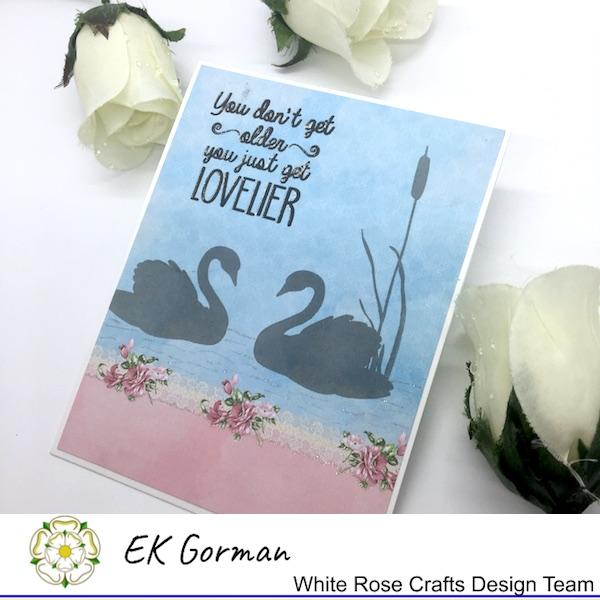 EK Gorman, White Rose Crafts, Scrapberry swans b