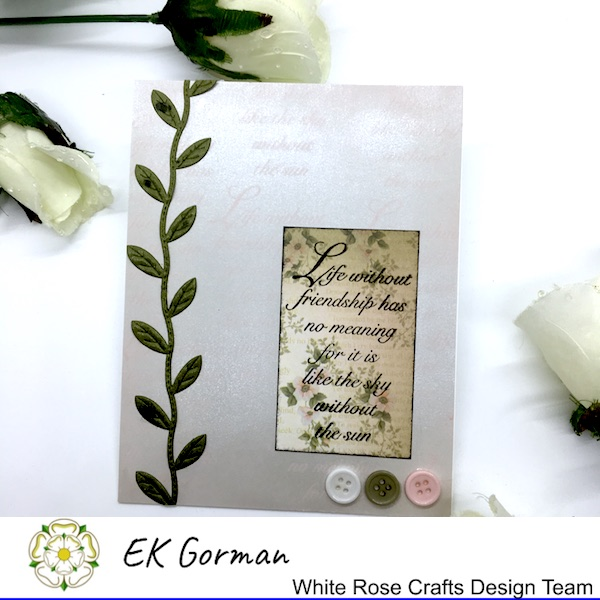 EK Gorman, White Rose Crafts, September Rose FFC 2 e
