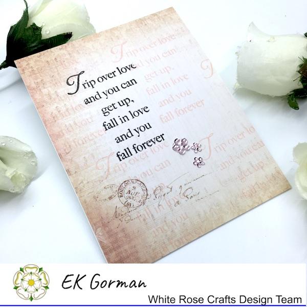 EK Gorman, White Rose Crafts, Vintage Rose FFC1 h
