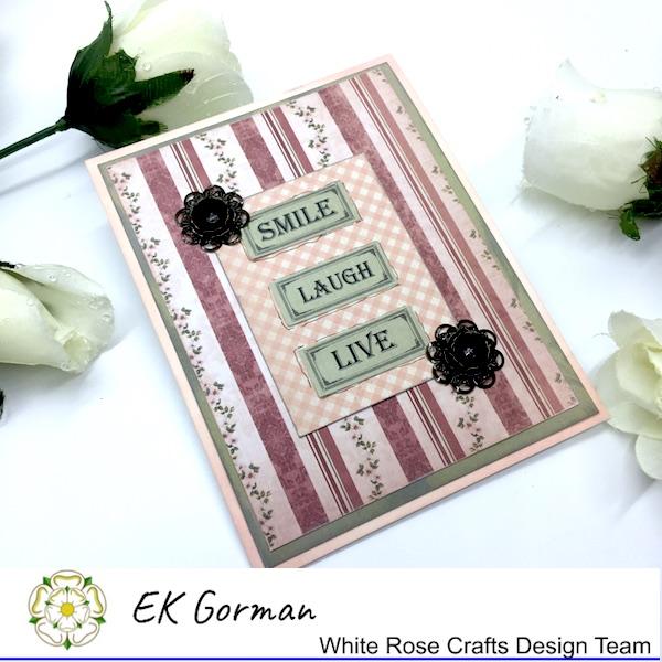 EK Gorman, White Rose Crafts, Vintage Rose FFC1 j