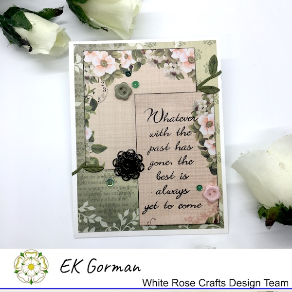EK Gorman, White Rose Crafts, September Sketch Challenge a