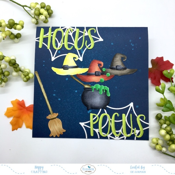 EK Gorman, Elizabeth Craft Designs, Hocus Pocus a