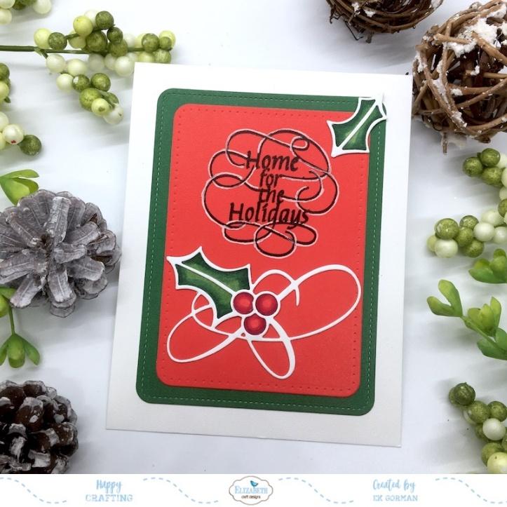 EK Gorman, Elizabeth Craft Designs Holly Jolly a