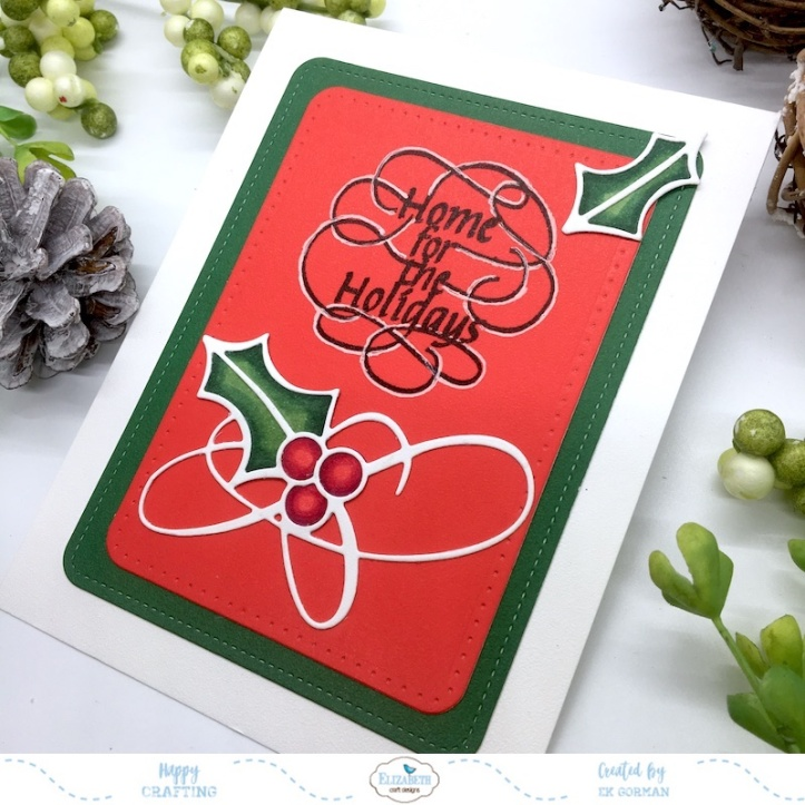 EK Gorman, Elizabeth Craft Designs Holly Jolly b