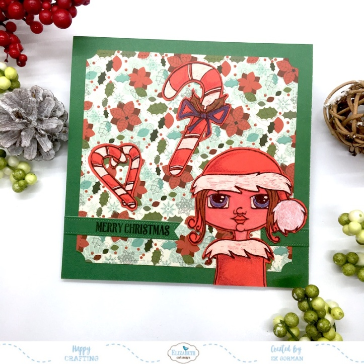 EK Gorman, Elizabeth Craft Designs, Red Christmas a