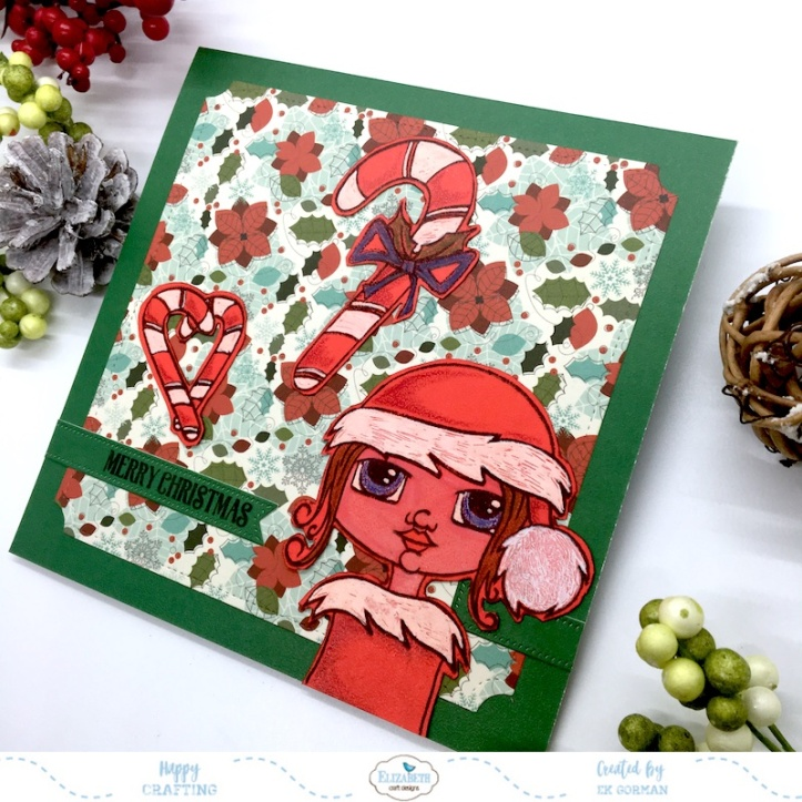 EK Gorman, Elizabeth Craft Designs, Red Christmas b