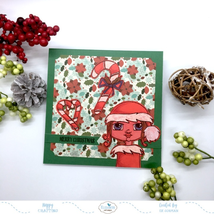EK Gorman, Elizabeth Craft Designs, Red Christmas c