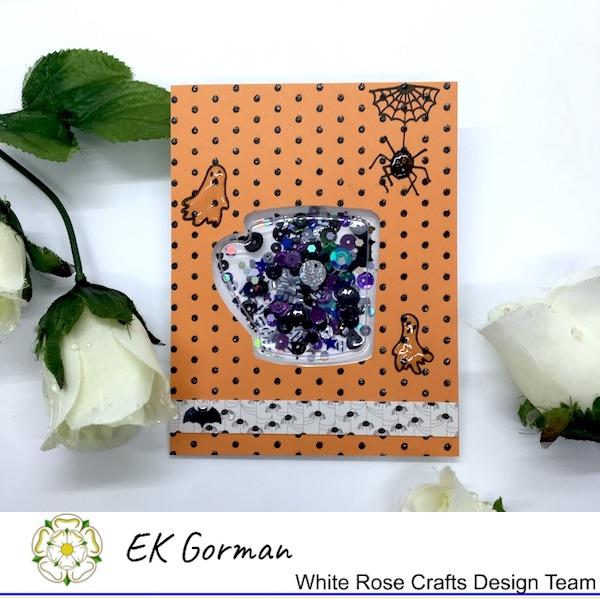 EK Gorman, White Rose Crafts, shaker card a