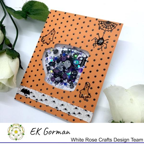 EK Gorman, White Rose Crafts, shaker card b