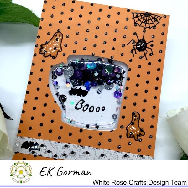 EK Gorman, White Rose Crafts, shaker card d