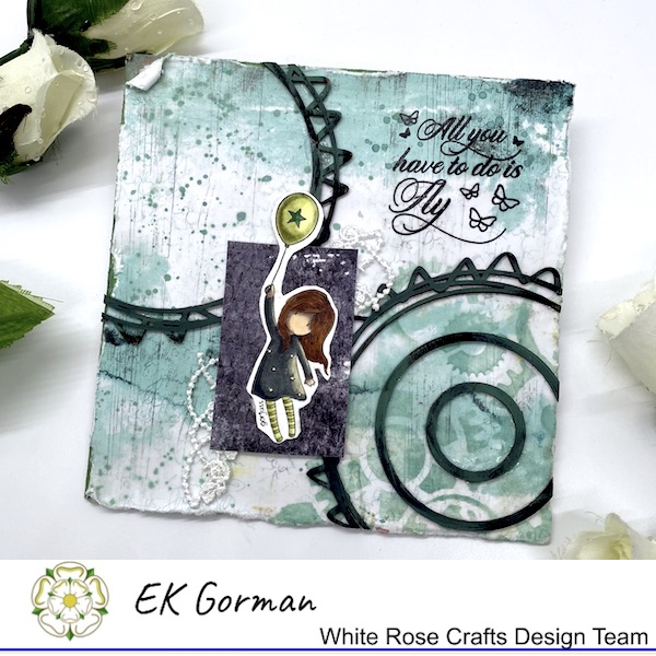 EK Gorman, WHite Rose Crafts, Mixed Media Fly a