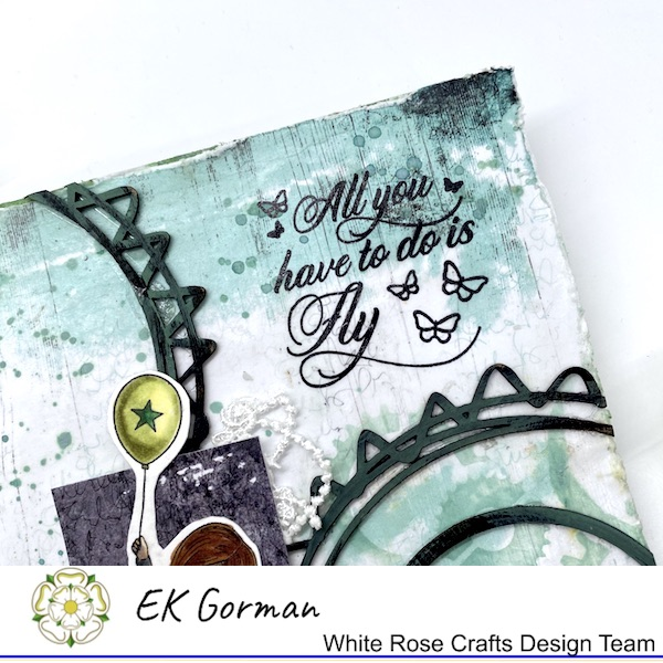 EK Gorman, WHite Rose Crafts, Mixed Media Fly c