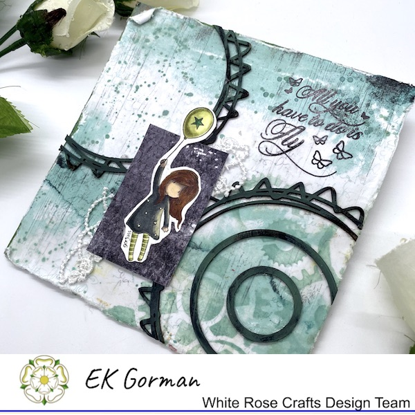 EK Gorman, WHite Rose Crafts, Mixed Media Fly d
