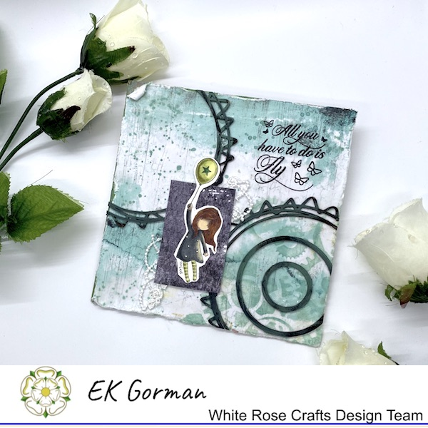 EK Gorman, WHite Rose Crafts, Mixed Media Fly e