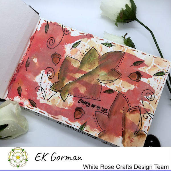 EK Gorman, White Rose Crafts, Art Journal 2 a